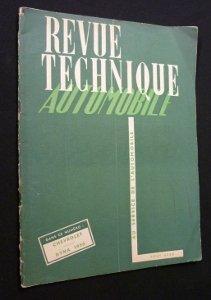 Revue technique automobile, Chevrolet 1949 et Panhard Dyna 1950. n 52, aot 1950