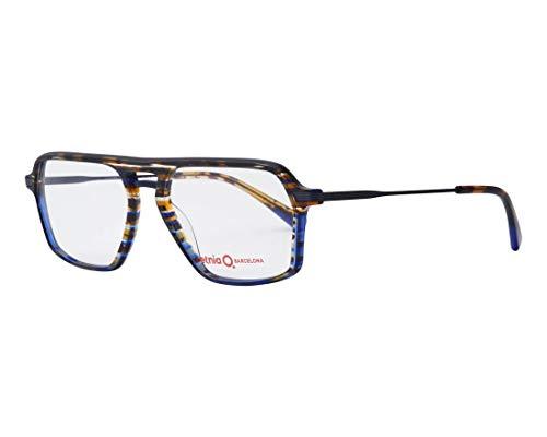 Preisvergleich Produktbild Etnia Barcelona Brille (LUCCA HVBL) Acetate Kunststoff - Metall marmor stil blau - marmor stil braun