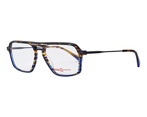 Etnia Barcelona Brille (LUCCA HVBL) Acetate Kunststoff - Metall marmor stil blau - marmor stil braun