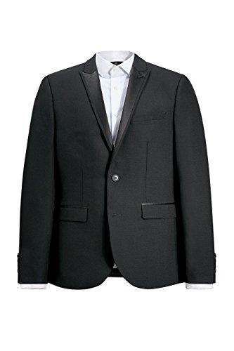 next Smoking en laine mélangée: Veste Coupe Skinny Homme Noir