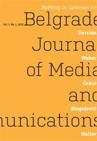 Casopis Belgrade journal of media and communication 1 - 2012 : Nothing in Common I