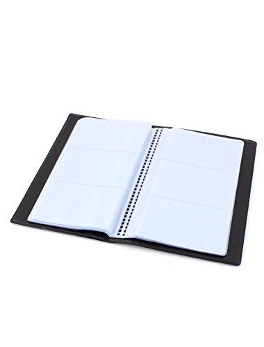 40Pages Notebook, 120 tasche porta carte di credito, documenti, biglietti da visita, colore: nero