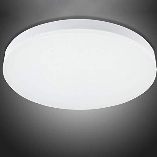Leuchten LED Deckenleuchte, Badezimmerlampe, Badezimmerleuchte,Wasserfest IP44 spritzwassergeschützt, ideal als Badleuchte, einfache Montage, angenehmes 6000K Kaltes Weiß Licht, Ø 26 cm -