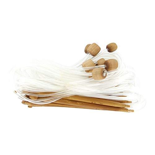 Bambú carbonizado ganchillo afgano ganchillo tunecino