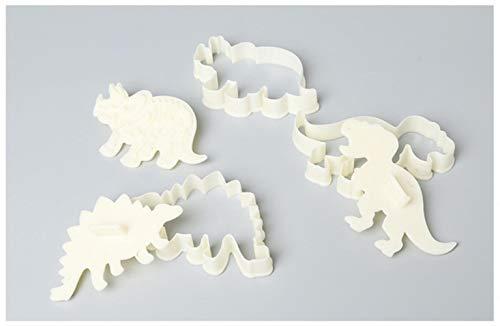 SULUO 3 stücke Dinosaurier Cookies Cutter Form 3D Dinosaurier keks prägeform zuckerfertigkeit Dessert backen silikonform Kuchen dekor Werkzeug, Dinosaurier-3 stücke