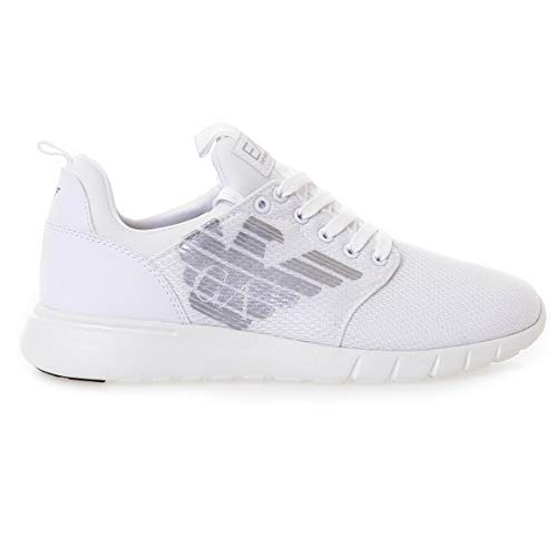 Emporio Armani EA7 Simple Racer CC U Sneaker Herren Weiss - 42 - Sneaker Low