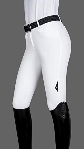 Equiline Ash X-Grip Kniebesatzreithose Damen Farbe: Weiss Größe: 36