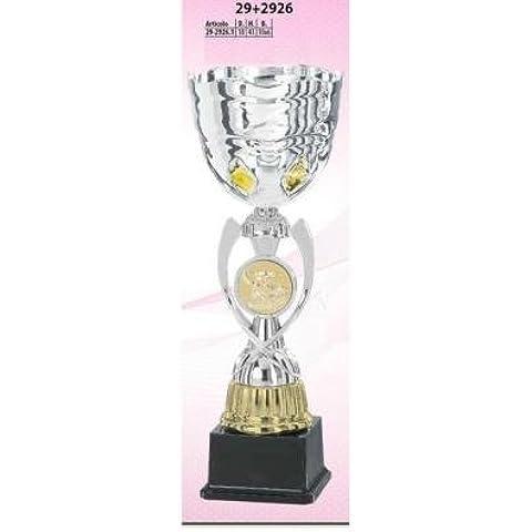 COPPA 43 CM ALTEZZA 18 CM DIAMETRO BASE 10 x 6 CM 29261 ADM s.r.l. - 10 Trofeo Coppa