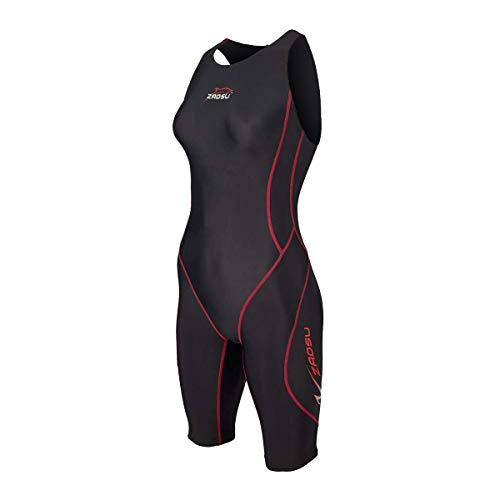 ZAOSU Damen Freiwasser-Schwimmanzug Z-Black knielang | Openwater Triathlon-Anzug bei Neoprenverbot, Größe:M