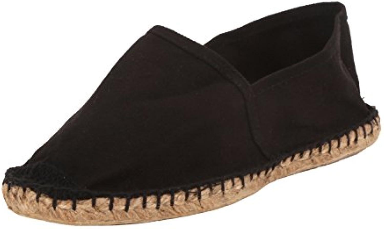 Sommerlatschen SL1402 - Alpargatas (unisex, suela de caucho), color negro