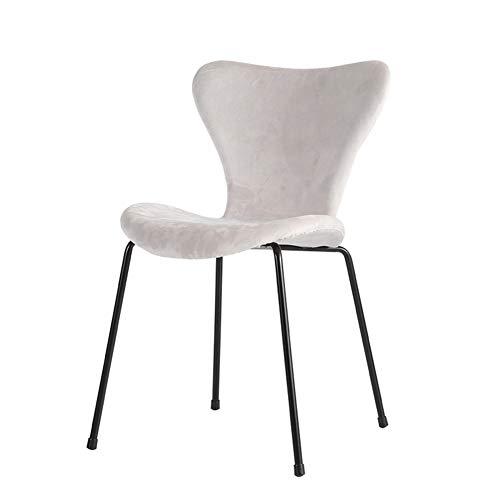 L.BAN Flanell Essensstuhl Gepolsterter Sessel Küchenstühle Wohnzimmer Stuhl, Lounge-Sessel
