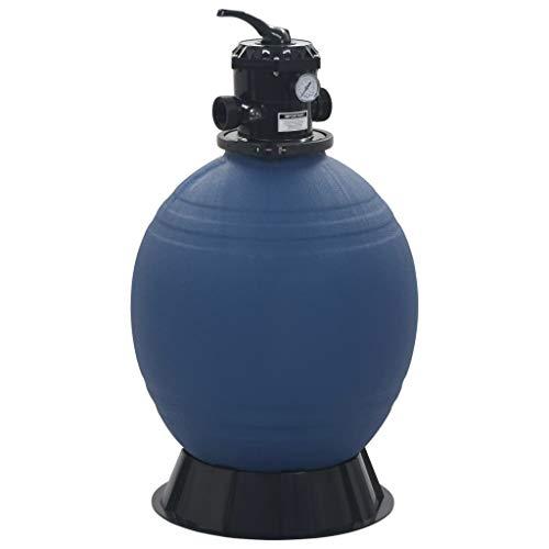 VidaXL Filtro de arena con válvula de 6 vías, filtro de arena, bomba de piscina, filtro de piscina...