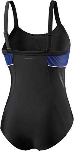 adidas Damen Infinitex Badeanzug, Medium schwarz/blau