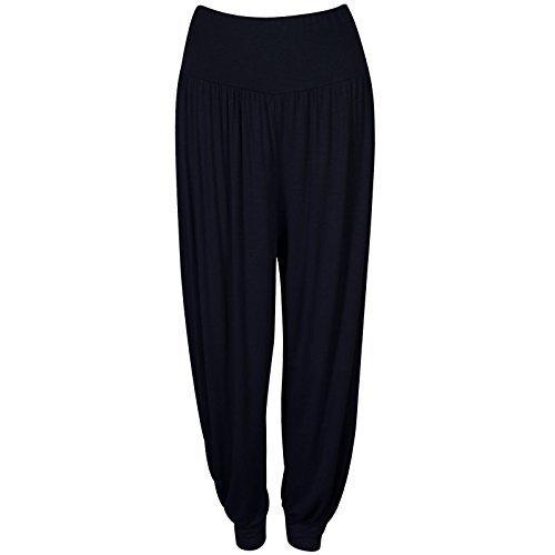 ladies-women-full-length-hareem-ali-baba-pants-baggy-trousers-harem-leggings-s-m8-10-black
