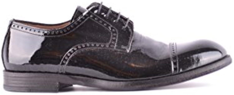 MIGLIORE Homme MCBI478002O Noir Cuir À Vernis Chaussures À Cuir Lacets 980733