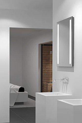 LED-Spiegel Talos Light– Warmweiß beleuchteter Spiegel für das Badezimmer - 70 x 50 cm großer Wandspiegel – Glas-Beleuchtung für angenehmes Licht im Bad – Modernes Design und hochwertige Beschichtung