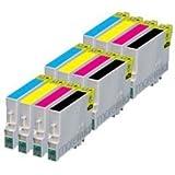 12x Kompatible Druckerpatronen - Ersatz für TO715 - Cyan / Magenta / Gelb / Schwarz- PATRONEN MIT NEUESTEN CHIP - Epson Stylus B40W BX300f BX310FN BX600FW BX610FW D120 Network D78 D92 DX400 DX4000 DX4050 DX4400 DX4450 DX5000 DX5050 DX6000 DX6050 DX6050EN DX7000 DX7000F DX7400 DX7450 DX8000 DX8400 DX8450 DX9400F Wifi Office BX510 SX600FW S20 S21 SX100 SX105 SX110 SX115 SX200 SX205 SX210 SX215 SX218 SX400 SX405 SX410 SX415 SX510W SX515W SX610FW