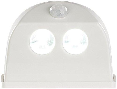 Luminea LED Türbeleuchtung: Batterie-LED-Türleuchte, Bewegungs-/Lichtsensor, 0,4 W, 50 lm, weiß (LED-Treppenleuchte)