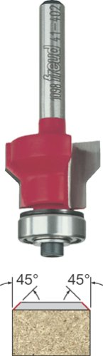 Freud 41-402 Two Flute Flush and 45-Degree Bevel Trim Router Bit with 1/4-Inch Shank by Freud