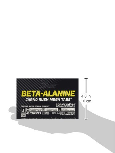31T16 Zu76L - Olimp Labs Beta-Alanine Capsules, Carno Rush, Pack of 80 Mega Tablets, BETA-Alanine CARNO Rush