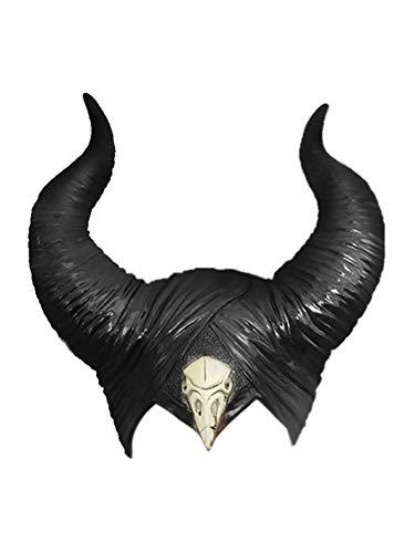 Bouncevi Maleficent Hörner Maske Schwarze Königin Hexe Hörner Hut Kopfbedeckung 2019 Film Mistress Of Evil Damen Cosplay Kostüm Zubehör Für Halloween