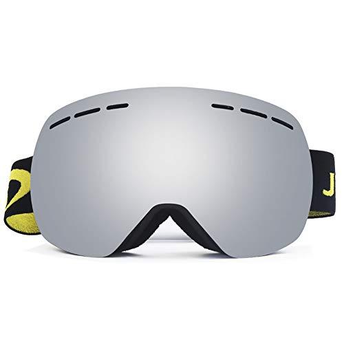 Schneesportbrille Skibrille Anti-Fog UV-Schutz Doppelglas-Schneebrille für Herren, Damen und Jugendliche,C