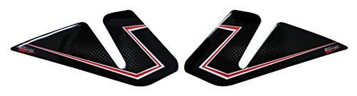 800143-VA 3D Carbon Stripes Protection de r/éservoir pour moto