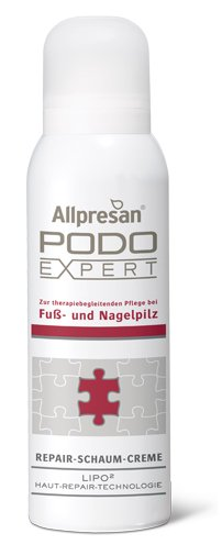 Allpresan Podo Expert Repair Schaum Creme Fusscreme bei Fußpilz, Nagelpilz, 125ml