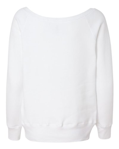 Bella Canvas - Sweat-shirt - Solid - Manches Longues - Opaque - Femme Blanc