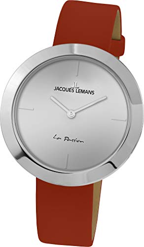 Jacques Lemans La Passion Femme 37mm Bracelet Cuir Quartz Montre 1-2031D