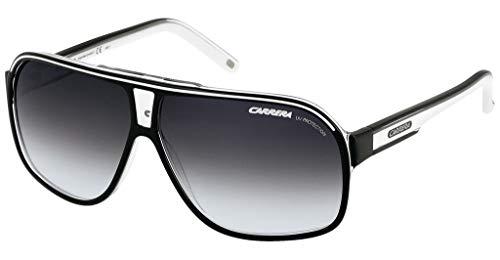 Carrera Grand Prix 2 9O T4M Gafas de sol, Negro (Black White/Grey Gradient), 64 Unisex Adulto