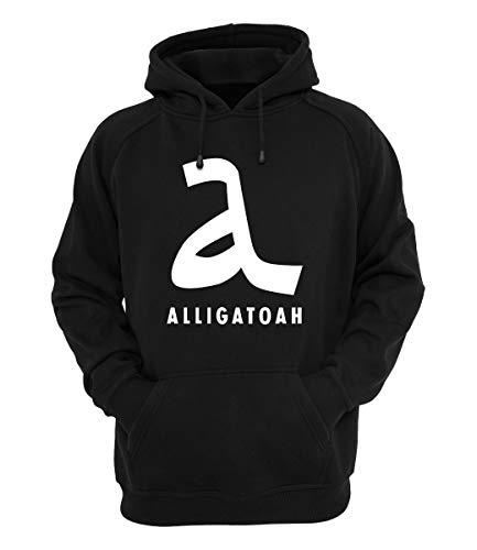 Preisvergleich Produktbild Alligatoah Hoody Logo 2 Schwarz, Farbe:Schwarz, Größe:S