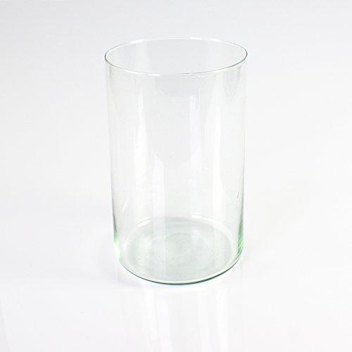 Set de 2 x Florero cilíndrico SANSA de cristal, transparente, 100 cm,...