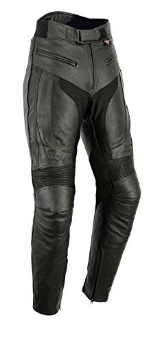 """Texpeed - RS - Pantalones de motociclismo para hombre - Con protectores de quita y pon - Cuero - W32"""" L30"""""""