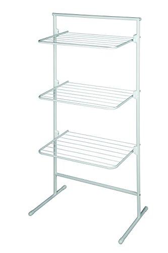 Rörets Wäscheständer - Turm Modell Triple - flexibler Turmwäscheständer für kleinen Wohnraum - schwedisches Design
