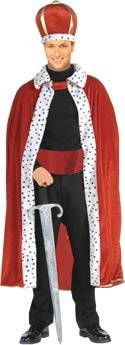 King Robe & Hat - Adult Costume Man: STD. (to 44
