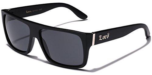Locs Super Flat Oben Original Gangsta Shades Hardcore Sonnenbrille - Matte Black 1 52 Schwarz eine Größe passt meistens Schwarz (Matt)