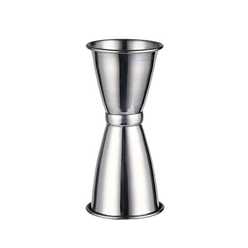 Mesure à cocktail en acier inoxydable Mesure Jigger Jigger Spirit Mesure à mesurer, Shot Shot, 10 / 25ml, 30 / 45ml FENGMING (Couleur : Silver, taille : 30/45ml)