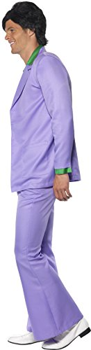 Lavendel 1970er Jahre Anzug Kostüm Jacke mit Mock Hemd und Weste Hose, Large - 3