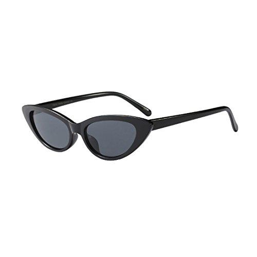 Inlefen Kleine Sonnenbrille Vintage Retro Extra schmale ovale Runde Skinny Cat Eye Sonnenbrille Schutzbrillen