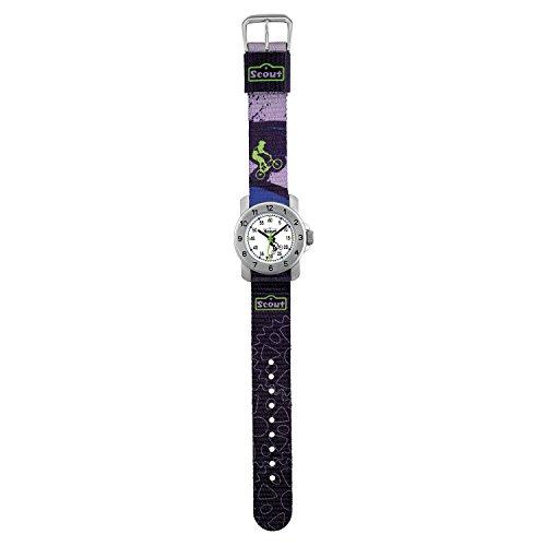 SCOUT Jungen Analog Quarz Uhr mit Stoff Armband 280376002