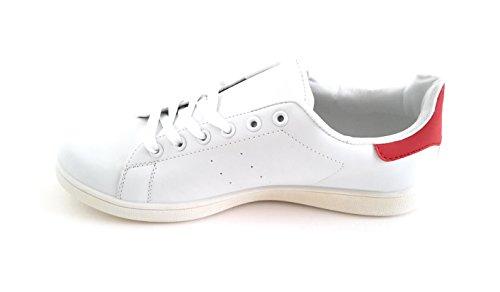 BRANDELIA-Zapatillas-Blancas-de-Hombre-Sneakers-Estilo-Casual-y-Deportivo-Color-Blanco