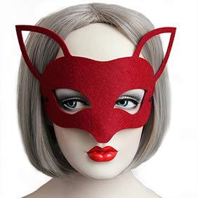uchs Fashion Lace Up Frauen Halbgesichtsmaske Maskerade Halloween Party, rot, Fox# ()