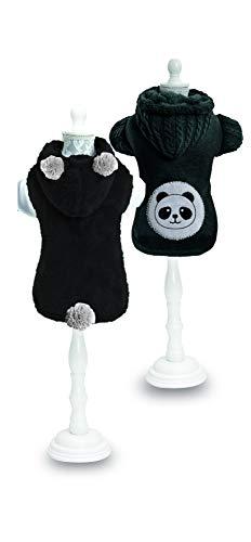 Croci C7274193 Felpa per Cani Double Panda, Cm 40