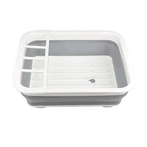 ZLF Falt-Dish Rack Portable Storage Tableware Durding Tray Tray Travel Kitchenette Caravan Boat House Camping Zent-Space-Sparen Sanitär und praktische Dishwashe - Display Kunststoff-utensil