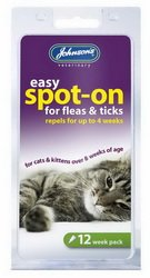 Johnson's Spot on Drops Flea Treatment for Cats (Pack Size: 12 Weeks)