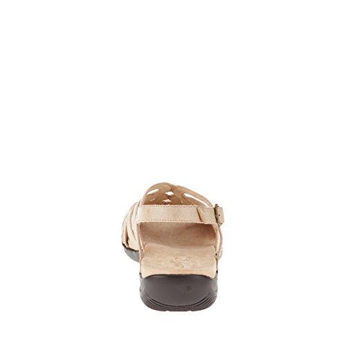 Easy Street Visage Offener Spitze Leder Slingback Sandale Beige