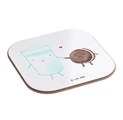 Mr. & Mrs. Panda Holz, Tisch, Quadratische Untersetzer Milch & Keks - Farbe Weiß -