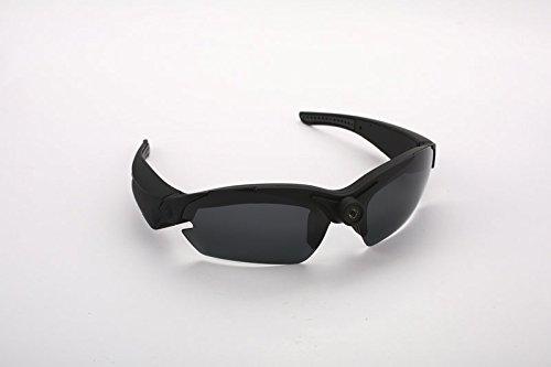 Action Cam HD Kamera Brille Sonnenbrille mit integrierter Kamera Sport Kamerabrille Brille in schwarz von der Marke PRECORN