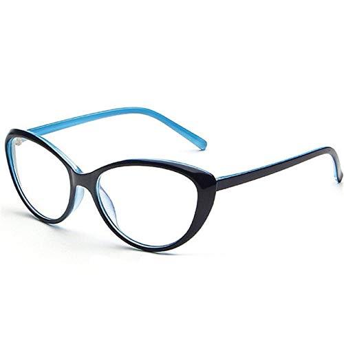 FANGUGF Flache Gläser Brillengestell Für Herren Und Damen Brillengestell Für Damen Ovale Spiegelgläser Für Herren In 5 Farben